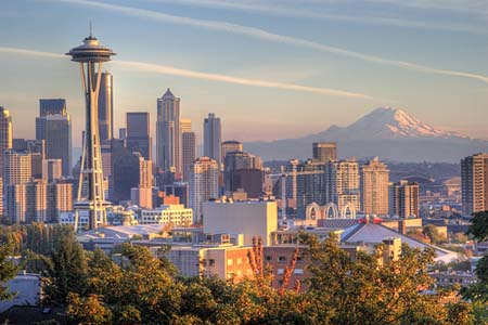 Seattle Seattle-skyline-with-space-needle